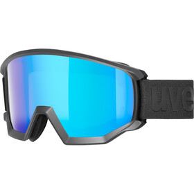 UVEX Athletic CV Gafas, black mat/colorvision blue fire